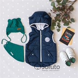 Жилет демисезонный Sofuto outwear Dark blue NEW