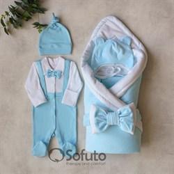 Комплект на выписку холодное лето (5 предметов) Sofuto baby Ettiene