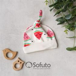 Шапочка узелок Sofuto Baby Watermelon