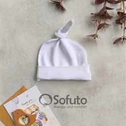 Шапочка узелок Sofuto Baby White