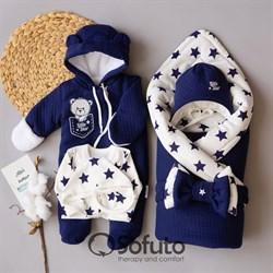 Комплект на выписку холодная зима (6 предметов) Sofuto baby Little star