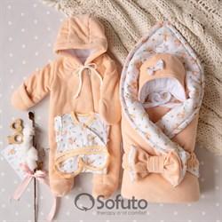 Комплект на выписку холодная зима (6 предметов) Sofuto baby Blossom
