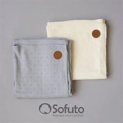 Плед вязаный в коляску Sofuto Knite Milk