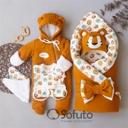 Комплект на выписку холодная зима (7 предметов) Sofuto baby Tigra