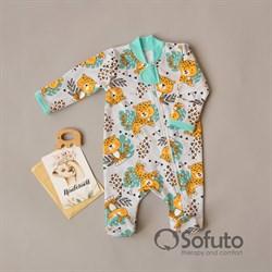 Слип тёплый на молнии Sofuto Baby Leopard