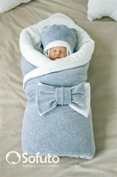 Комплект на выписку зимний (7 предметов) Sofuto baby Grey simple