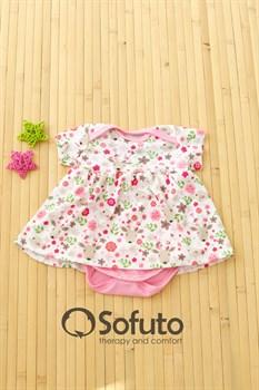 Боди детское с юбочкой Sofuto baby Flowers
